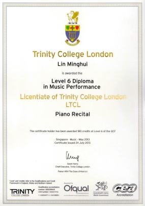 Licentiate Diploma in Piano (LTCL)